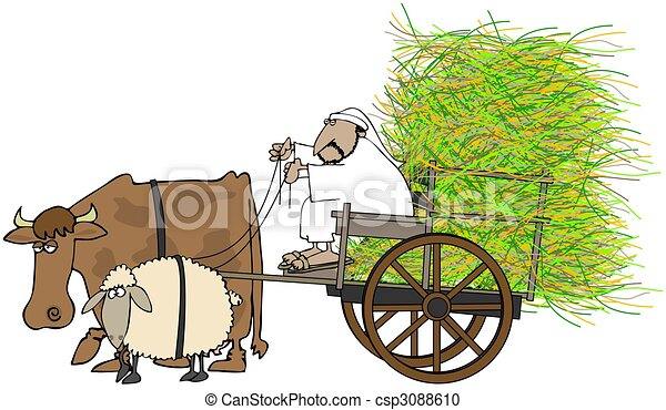 Cow Cart Clipart Stock Illustration of ...