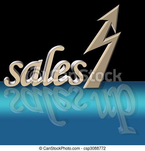 improved sales - csp3088772