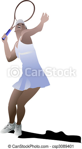 Tennis player - csp3089401