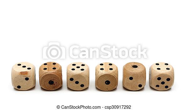 Wooden Dice  - csp30917292