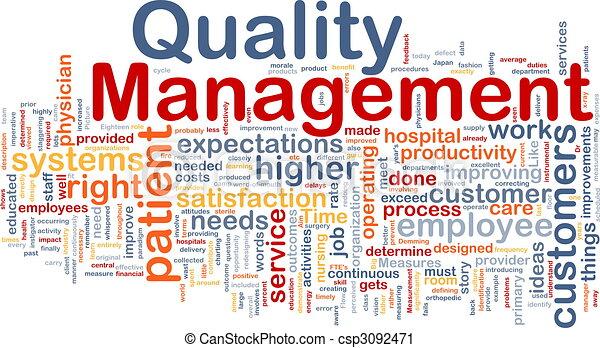 Quality management background concept - csp3092471Quality Management Clipart