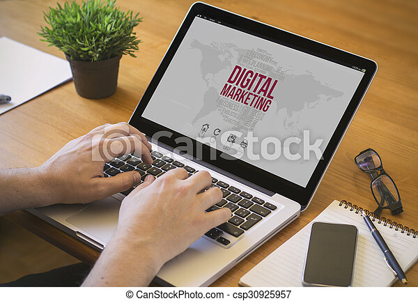 computer desktop digital marketing