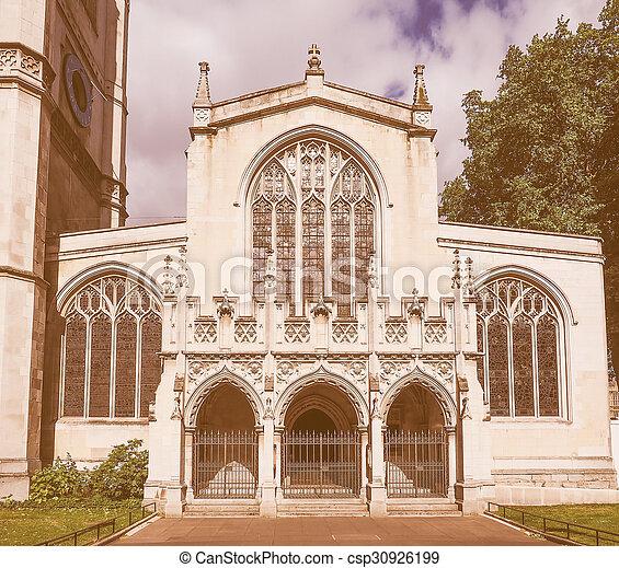 Retro looking St Margaret Church in London - csp30926199