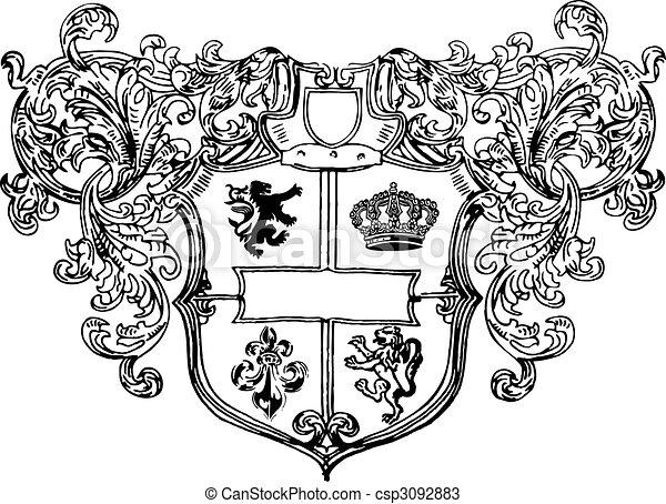 royalty shield - csp3092883
