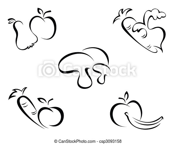 Vegetables symbols - csp3093158