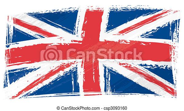 Grunge United Kingdom flag - csp3093160