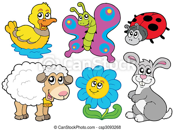Spring animals collection - csp3093268
