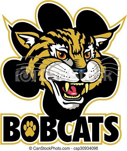 Eps Vectors Of Bobcats Mascot Team Design With Mascot Head