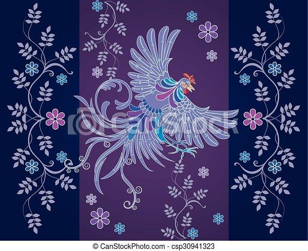Vector abstract textile designs - csp30941323