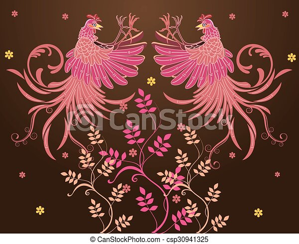 Vector abstract Rooster Fighting - csp30941325