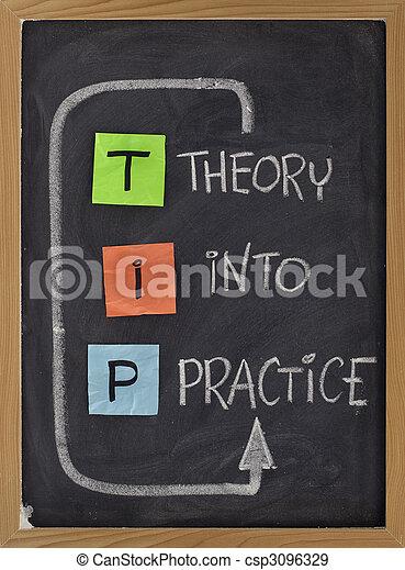 theory into practice - TIP acronym - csp3096329