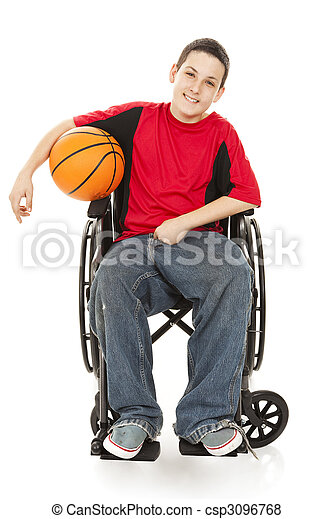 Disabled Teen Athlete - csp3096768