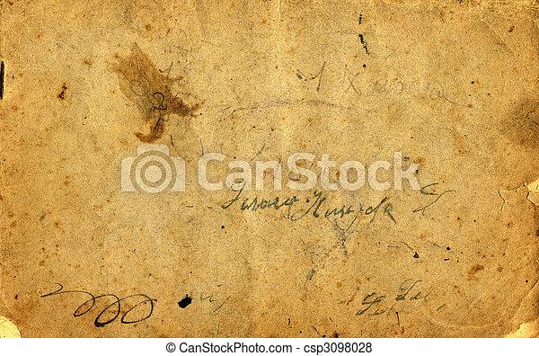 anticaglia, carta - csp3098028