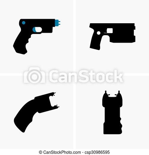 Electroshock weapons - csp30986595