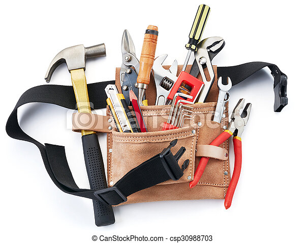 tool belt with tools - csp30988703