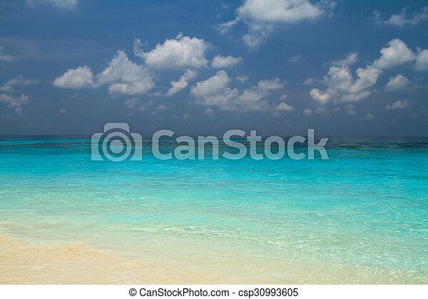 Seawater blue color