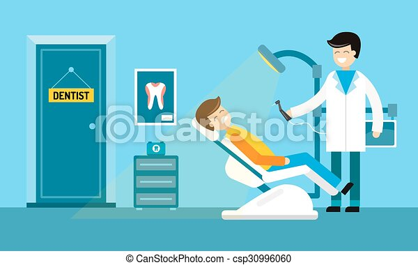 clip art vector of dentist doctors office and patient with Hospital Clip Art Doctor Visit Clip Art