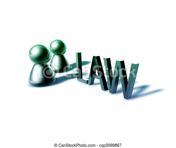 Law word graphic - csp3099867