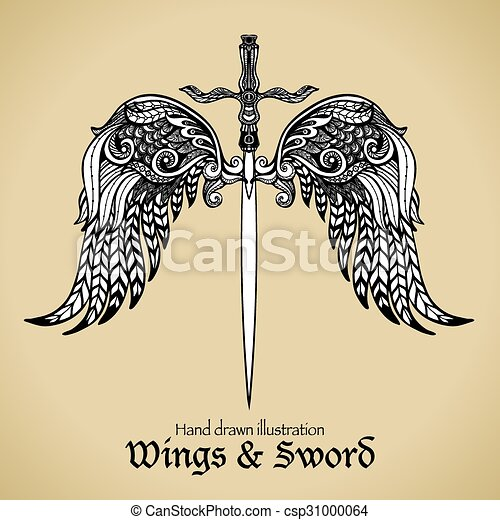 Wings And Sword - csp31000064