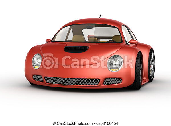 Red sport car - csp3100454
