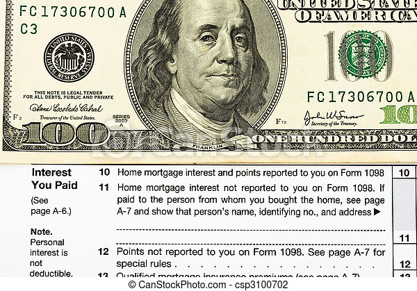 Federal Tax Forms for Items Deductions - csp3100702