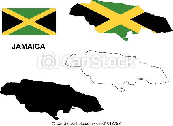 EPS Vectors of Jamaica map vector, Jamaica flag vector, isolated ...