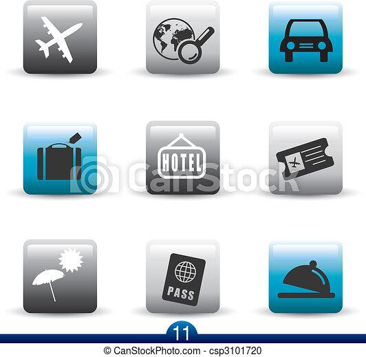 Icon series 11 - travel - csp3101720