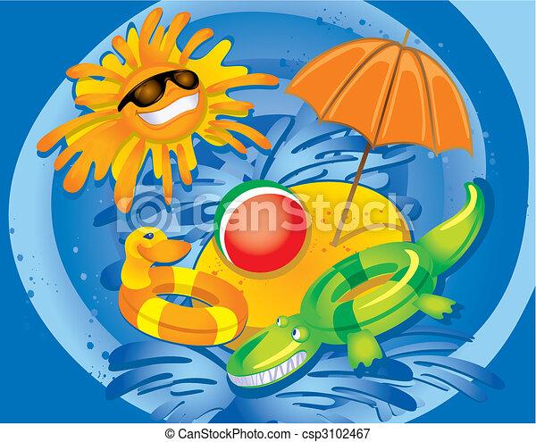 Summer Fun (vector) - csp3102467
