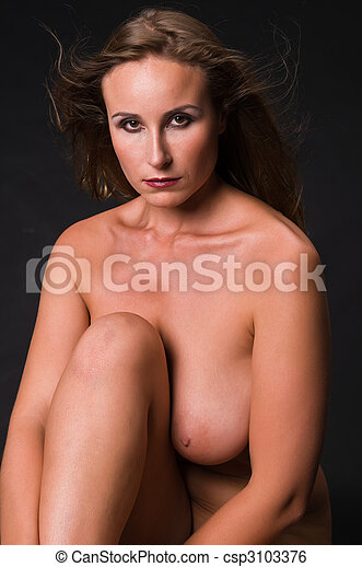 Russian woman - csp3103376. Beautiful Russian woman posing nude. Save Comp