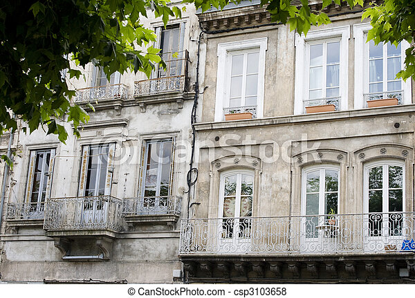 Pictures of Ornate facade of French building - Facade of old ...