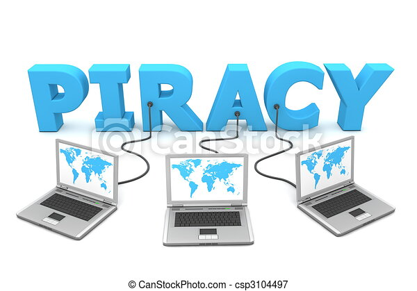 Multiple Wired To Piracy - csp3104497