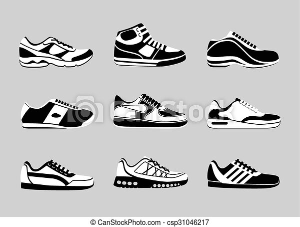 Sneakers icons - csp31046217