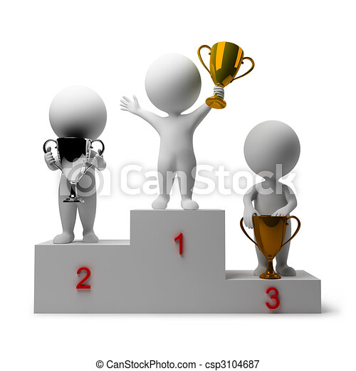 3d small people - rewarding of winners - csp3104687