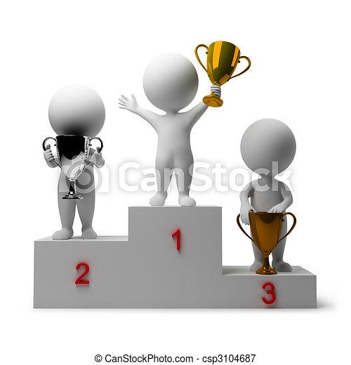 3d small people - rewarding of winners - csp3104687
