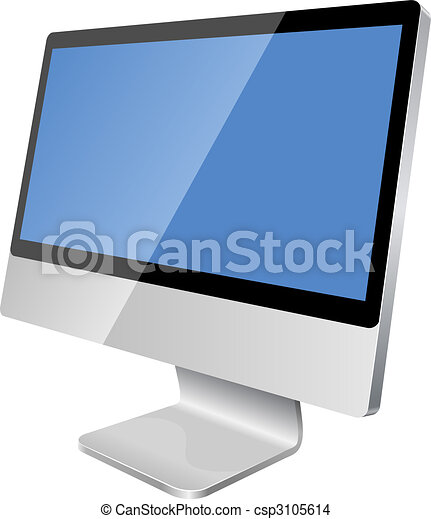 Modern LCD monitor - csp3105614
