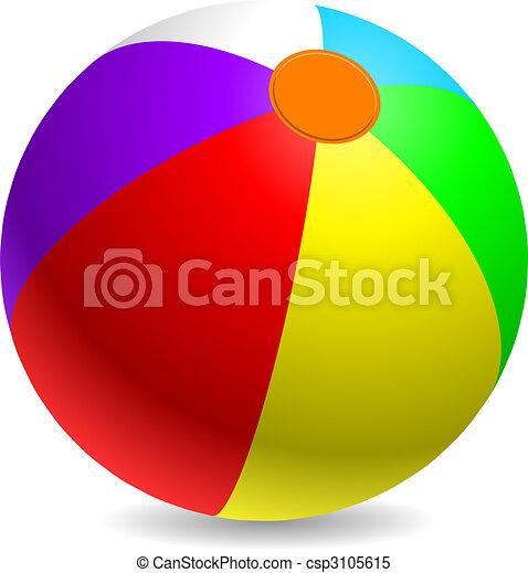 Beach ball - csp3105615