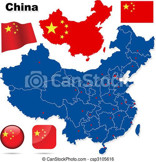 China vector set. - csp3105616