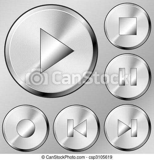 Media buttons - csp3105619