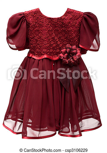 Natty crimson baby gown - csp3106229
