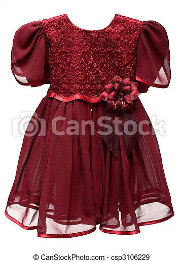 Natty crimson baby gown - csp3106229