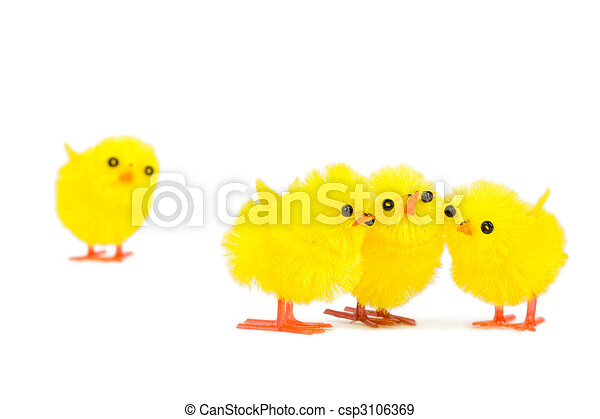 three chick friends ignoring poor chick outsider - csp3106369