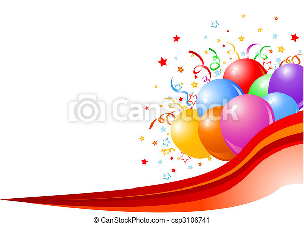 Party balloons background - csp3106741