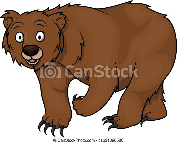 Clipart vecteur de ours dessin anim illustration bear - Dessin de grizzly ...
