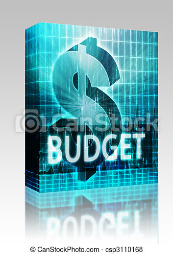 Budget Finance illustration box package - csp3110168