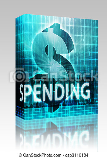 Spending Finance illustration box package - csp3110184