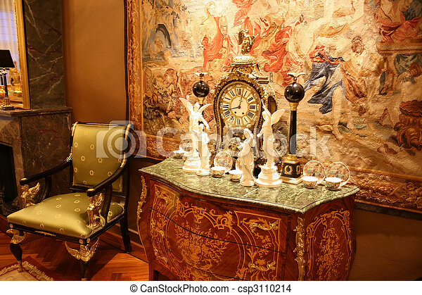 骨董品,  boulle, 時計 - csp3110214