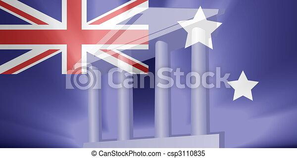 Flag of Australia government - csp3110835