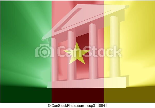 Flag of Cameroon government - csp3110841