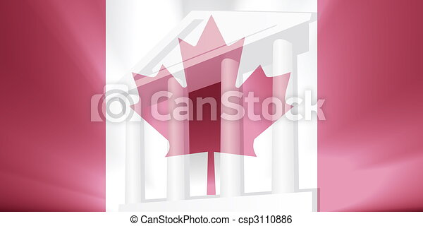Flag of Canada government - csp3110886