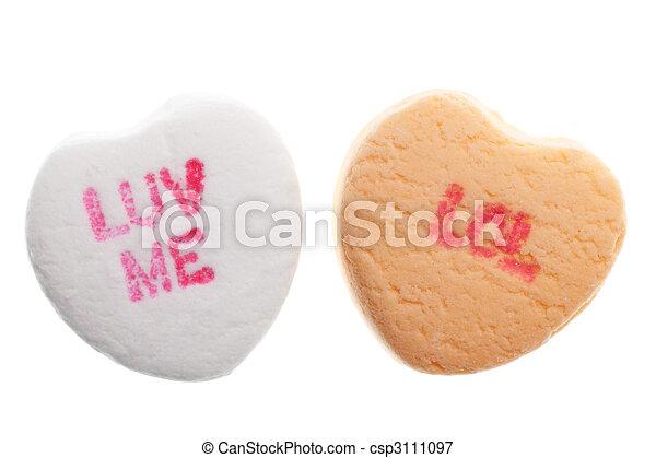 valentine\'s, cœurs, jour, bonbon - csp3111097